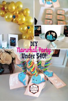 DIY Narwhal Birthday Party {On the Cheap!}