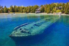 Lake Huron shipwreck.