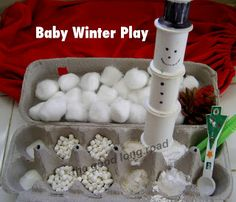 Simple Ideas for Baby Play At Home (#5): Winter-themed