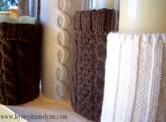 Recycled sweater vases <3