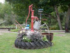 my old pump water garden