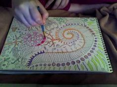 Random Doodle Drawing Part 2 Watercolor Painting by Morgan Paige Abbott