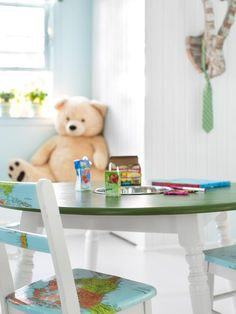 Repurposed Play Table in Unused Attic Space Becomes Boys' Bedroom from HGTV