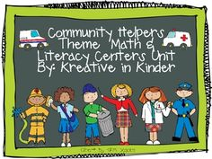 Community Helpers Unit! 83 page Printable Unit of literacy, math, writing, and social studies centers. $5
