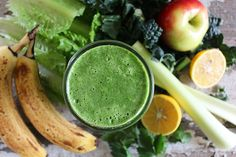Stripped Green Smoothie {single serving}   nutritionstripped.com. A single serving recipe for the Stripped Green Smoothie (which normally is up to 4 servings). #vegan #raw #smoothie #greensmoothie #breakfast #nutrition