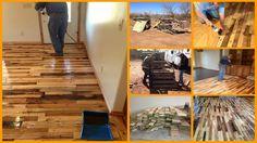DIY Pallet Flooring