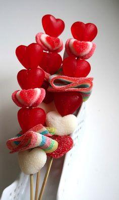 kabob skewer, kabobs, candi kabob, idea, valentine day, food, candies, valentin candi, treat