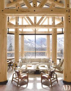An Aspen, Colorado, great room by Atelier AM