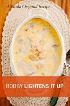 Bobby Deen's lighter oyster soup