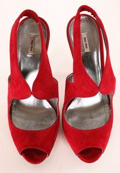 Love these red Miu Miu heels!