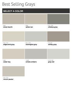 Benjamin Moore's Best Selling Greys