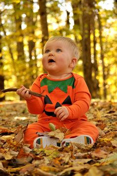 Kids love playing in the leafs with sticks ....  easy photo time with great natural color!