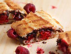 Two-minute Raspberry Nutella Panini