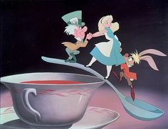 *MAD HATTER, ALICE & THE MARCH HARE ~ Alice in Wonderland, 1951