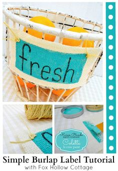 Burlap labels from F