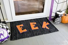 "We have an assortment of ""EEK"" worthy ideas to get your front porch geared up for Halloween! Take a peek... if you dare."