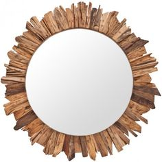 Sherwood Mirror >> Beautiful wood mirror!