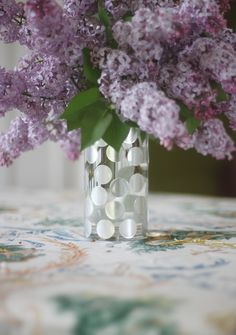 Aunt Peaches: Two Dollars of Awesome: Polka Dot Label Vase