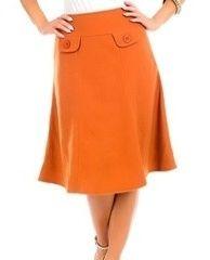 Kelly Brett Boutique   Women's Online Clothing Boutique - Skirt Solid True Terra-cotta  , $16.95 (http://www.kellybrettboutique.com/tried-and-true-skirt-terra-cotta/)