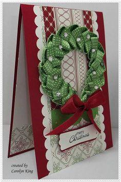Ribbon wreath.