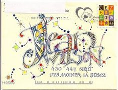 Joyous. This is wonderful mail art!