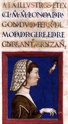 TURA, Cosmè. Eleonora of Aragon. 1478-79. Medieval Imago & Dies Vitae Idade Media e Cotidiano.