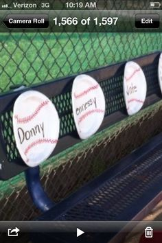 Baseball paper plates with players name in the middle placed in battering order just get plain paper plate with red sharpy