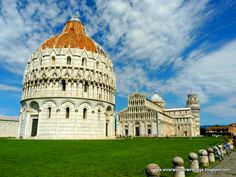 The Square of Miracles: The Baptistery, The Camposanto, The Duomo and the Tower, Pisa, Italy