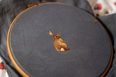 Beautiful tiny embroidered animals by Chloe Giordano.