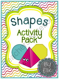 Shapes Activity Pack - 2D & 3D Shapes Common Core Aligned from Elementary Elle on TeachersNotebook.com -  (260 pages)  - Use this shapes activity pack to teach 2D and 3D shapes! There are a ton of different activities to choose from, many of which come in several difficulty levels.