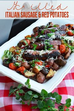Grilled Italian Sausage & Red Potatoes from @Katie Hrubec Jasiewicz  using @Gayle Roberts Merry With Reds #BetterWithReds #SummerFood #Grilling