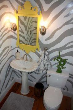 zebra bathroom