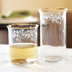 Southern Living Set of 4 Gold Trim Glassware | Ballard Designs