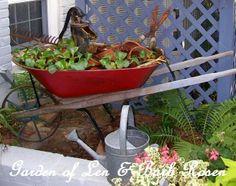 Make a water garden in a wheelbarrow! (Garden of Len & Barb Rosen) http://ourfairfieldhomeandgarden.com/a-trip-down-memory-lane-my-former-garden/