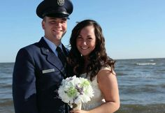 Military USAF Wedding on the beach