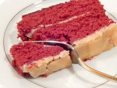 THE BEST red devil's food cake! (hint: coffee is in the batter, and the icing is a glaze).