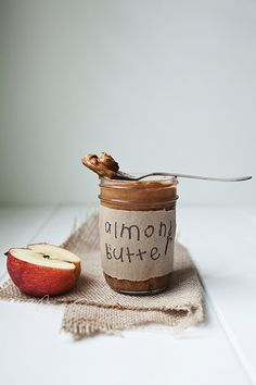 homemade almond butter • the little red house