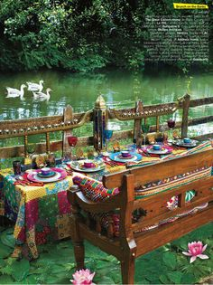 Indian table setting from Architectural Digest India