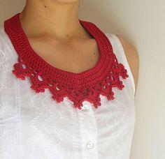 Crochet necklace Tutorial ✭Teresa Restegui http://www.pinterest.com/teretegui/ ✭