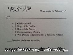 possible rsvp.