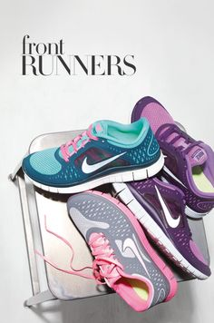 Front Runners #GetMoving #Nordstrom fashion shoes, girl fashion, sneaker, running workouts, nike running, nike shoes, front runner, nike free runs, girls shoes