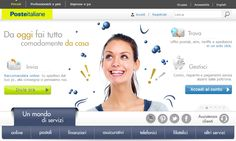 Nuova grafica www.poste.it.  Home page Privati