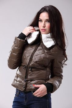 Buy Coffee Moncler Grenoble Down Jacket for Women  $158