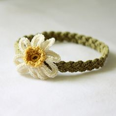 Daisy Braided Headband by mon petit violon, via Flickr