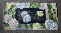 hand-painted canvas floorcloth