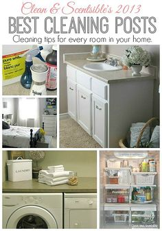 Awesome cleaning tips for cleaning every room in your home.  Great for Spring Cleaning!