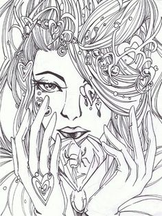 advanced fairy coloring pages coloring pages more fairy coloring pages ...
