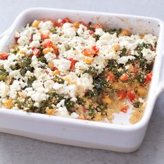 Baked Quinoa Casserole With Kale and Chickpeas — healthy, fast and easy, and it only uses six ingredients!