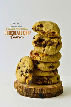 ... with some #vegan salted caramel and you have the best cookie on earth