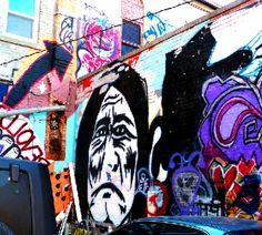 """Art Alley"" in downtown Rapid City, South Dakota"
